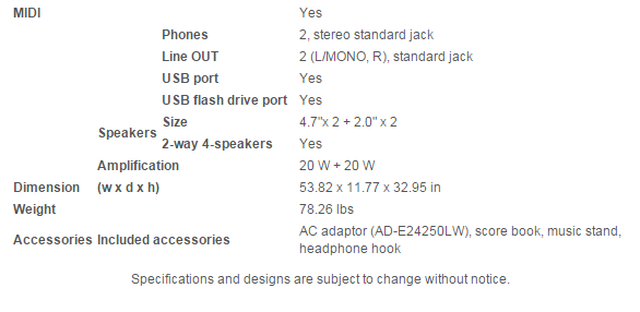 PX860: Specifications - pg. 2 -