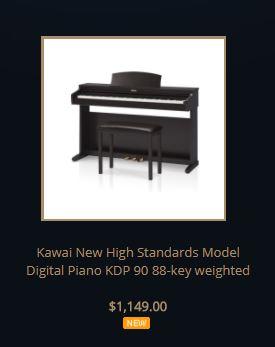 Kawai KDP90 list