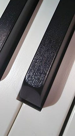 Casio PX860 have ridges on the keys because they are Ivory Keys