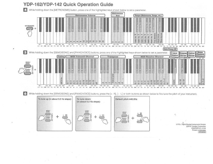 YDP142: Function Operation Guide - pg. 1 -