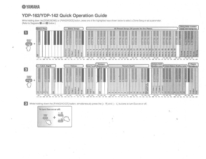 YDP142: Function Operation Guide - pg. 2 -