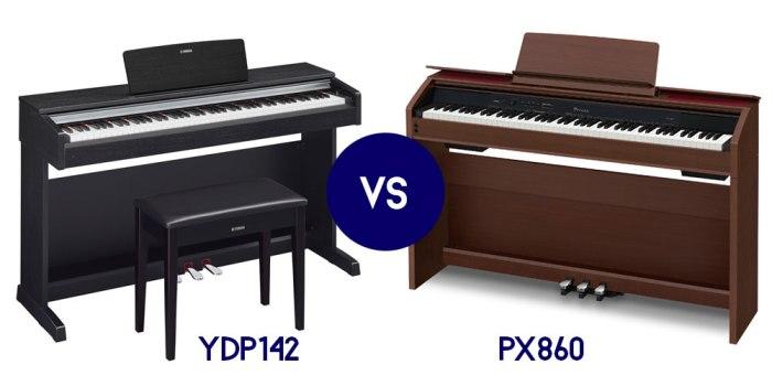 Yamaha YDP142 VS Casio PX860
