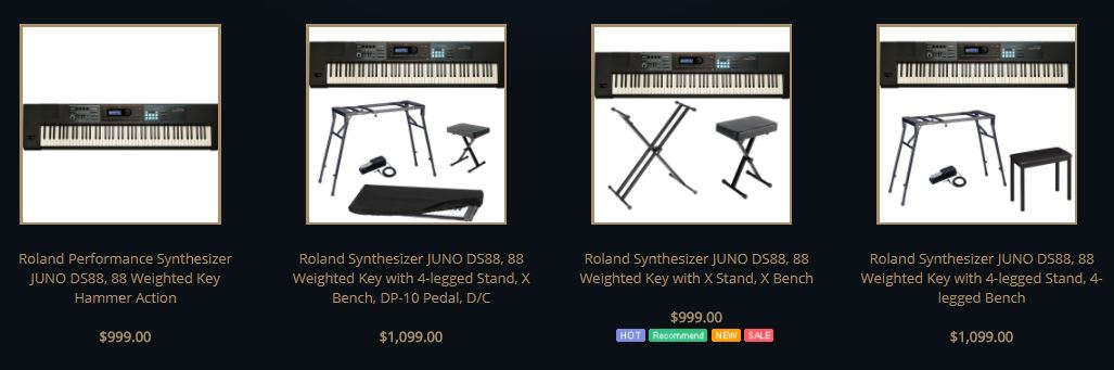 Roland juno ds88 review best price digital piano best for Yamaha dgx 660 vs roland