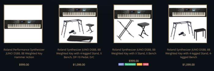 Roland Juno DS88 list