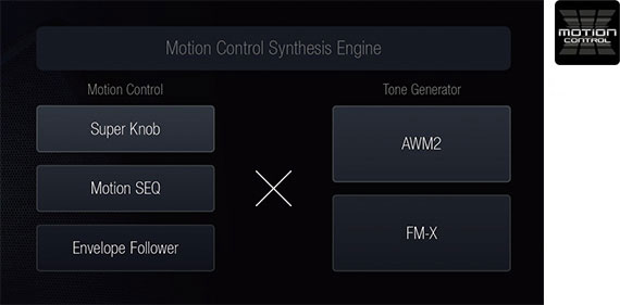 Yamaha Montage Motion Control Synthesis Engine