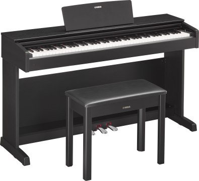 Yamaha YDP143 black with bench