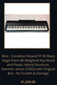 Roland fp90 used
