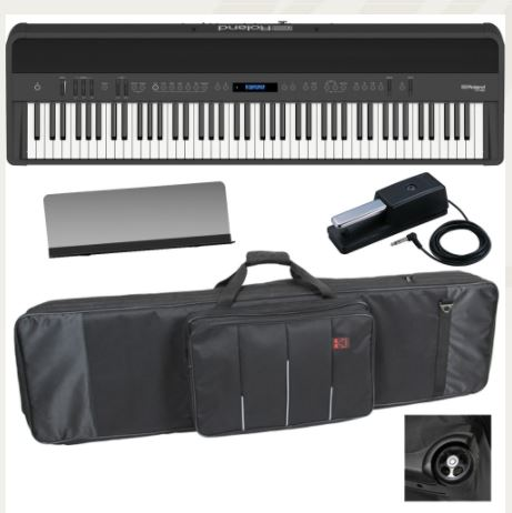 Brand New Roland FP 90 Black Portable Stage Piano 88 Weighted Key with Wheel Keyboard Carrying Bag