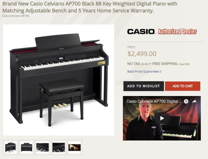Casio AP700 product