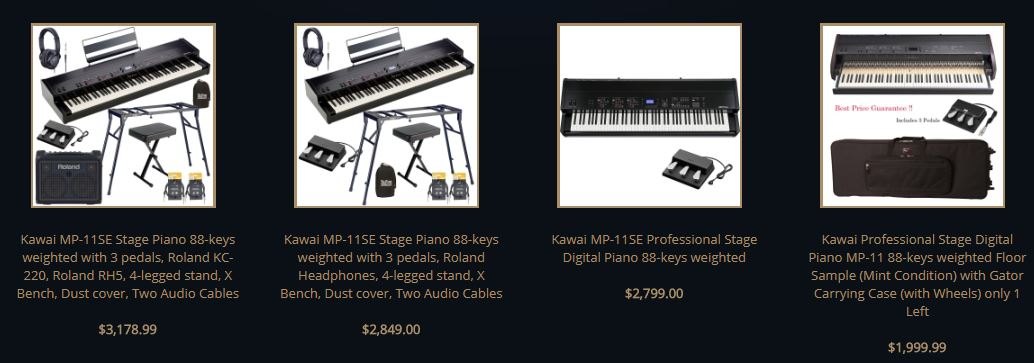 Kawai MP11se listing